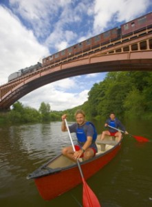 Canoe trips with steam train return