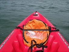 Kayak sail folded away
